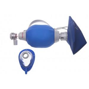 Insufflateur Mark IV adulte avec masque transparent bourrelet gonflable t5 et réservoir 02
